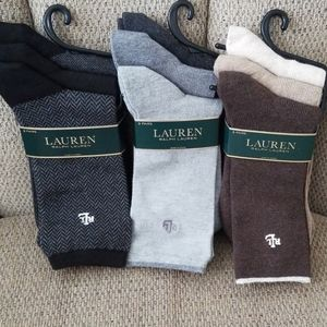 9 PR. OF RALPH LAUREN SOCKS